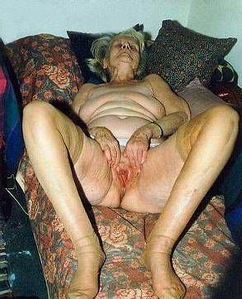 very old grannies showing off goodies from Retired Sluts