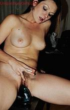 Brunette smoking with tiny hairy and dildo from Unique Sexy Girls
